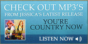 Check out mp3's from jessica's latest release. Image of album cover with Jessica posing